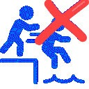 No pushing or excessive noise - swimming pool rule